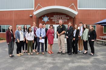 Interns from the Middlesex District Attorney's Office recently visited the Middlesex Jail & House of Correction in Billerica, Mass.