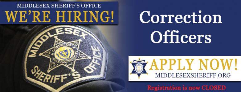 Registration for the 2021 Correction Officer Exam is CLOSED